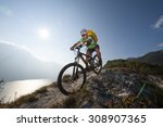 downhill mountainbike | Shutterstock . vector #308907365
