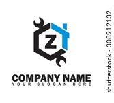 modern and stylish alphabetical ...   Shutterstock .eps vector #308912132