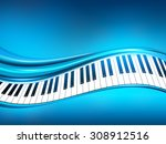 blue piano background   Shutterstock .eps vector #308912516