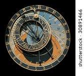 famous astronomical clock in...   Shutterstock . vector #30891466