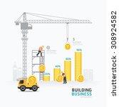 infographic business money... | Shutterstock .eps vector #308924582