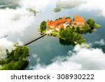 Aerial View Of Old Castle....