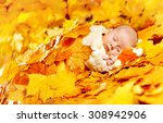 Autumn Baby Sleeping  Newborn...