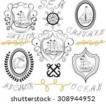 sailboat icons. sailing ship ...   Shutterstock .eps vector #308944952
