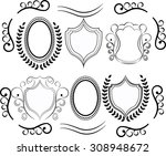 vector decorative design... | Shutterstock .eps vector #308948672