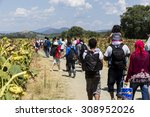 idomeni  greece   august 19  ... | Shutterstock . vector #308952026