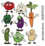 cute cartoon vegetables. all in ... | Shutterstock .eps vector #30895924