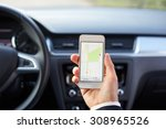 male driver sitting in the car... | Shutterstock . vector #308965526
