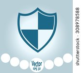 shield protection icon | Shutterstock .eps vector #308978588