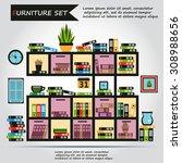 illustration of office... | Shutterstock .eps vector #308988656