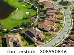 Small photo of aerial view of lovely florida golf community