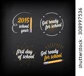 back to school  badges design... | Shutterstock .eps vector #308997536