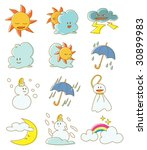 vector weather mark | Shutterstock .eps vector #30899983