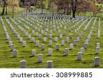 Headstones At The Arlington...