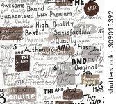 grunge stylish wallpaper... | Shutterstock .eps vector #309015392