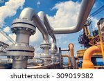 offshore industry oil and gas... | Shutterstock . vector #309019382
