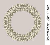 round vintage frame for logos.... | Shutterstock .eps vector #309022505