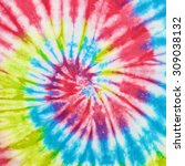close up shot of tie dye fabric ... | Shutterstock . vector #309038132