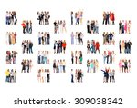 office culture isolated groups  | Shutterstock . vector #309038342