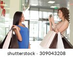 beautiful women are making fun... | Shutterstock . vector #309043208