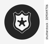 police badge icon   Shutterstock .eps vector #309049706