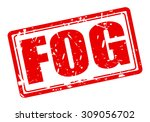 Fog Red Stamp Text On White