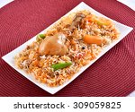 chicken biryani  sindhi biryani    Shutterstock . vector #309059825
