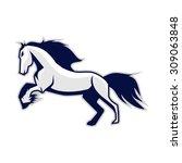 horses logo template | Shutterstock .eps vector #309063848