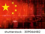 flag of china. downtrend stock... | Shutterstock . vector #309066482