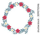 the floral concept of circle... | Shutterstock . vector #309070346
