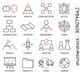 vector set of 16 icons related... | Shutterstock .eps vector #309079862