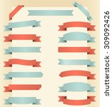 vintage banners   set of... | Shutterstock .eps vector #309092426