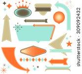 retro design elements   set of... | Shutterstock .eps vector #309092432