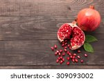 Ripe Pomegranate Fruit On...