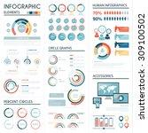 set of corporate infographics... | Shutterstock .eps vector #309100502