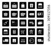 online shopping icon. shopping... | Shutterstock .eps vector #309117356