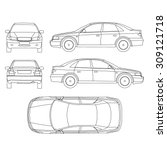 car line draw insurance  rent... | Shutterstock .eps vector #309121718