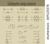 set of calligraphic design... | Shutterstock .eps vector #309125378