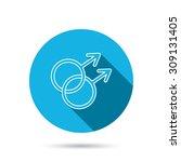 gay couple icon. homosexual...   Shutterstock .eps vector #309131405