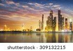 dubai marina skyline as seen...   Shutterstock . vector #309132215