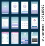 mobile screens user interface... | Shutterstock .eps vector #309135092