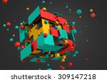 Abstract 3d Rendering Of...