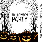 halloween background | Shutterstock .eps vector #309147776