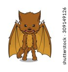 vector mascot of a cute dragon... | Shutterstock .eps vector #309149126