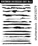 a set of grunge line brush... | Shutterstock . vector #30915079
