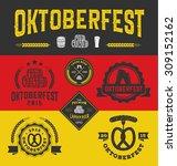 oktoberfest badge logo and... | Shutterstock .eps vector #309152162