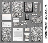 zentangle black and white... | Shutterstock .eps vector #309156875