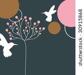 hummingbird and tree design | Shutterstock .eps vector #30915868