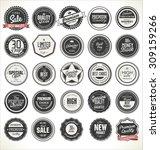 premium  quality retro vintage... | Shutterstock .eps vector #309159266