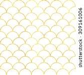golden paper seamless pattern... | Shutterstock .eps vector #309161006